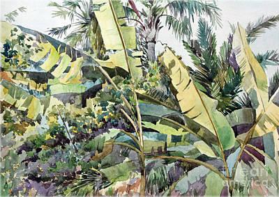 Green Painting - Monaco by Natalia Eremeyeva Duarte