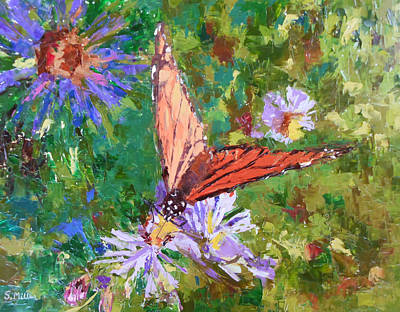 Painting - Monarch Butterfly by Sylvia Miller