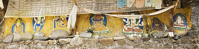 Tibetan Buddhism Photograph - Monastery Building Near Lhasa. Buddhist by Phil Borges