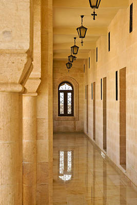 Photograph - Monastery Corridor by Michele Burgess