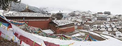 Tibetan Buddhism Photograph - Monastery In Valley Of Druk-chu At by Phil Borges