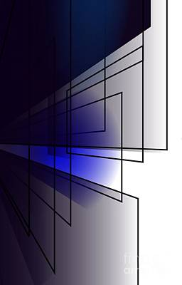 Digital Art - Mondrian Blues by Vicki Lynn Sodora