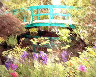 Digital Art - Monet's Bridge by Richard Stevens