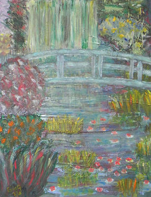 Painting - Monet's Garden Bridge by Ernie Goldberg