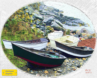 Monhegan Dinghies Art Print by Richard Stevens