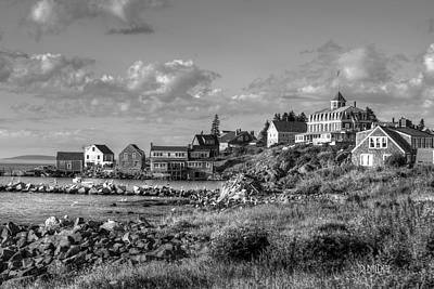 Photograph - Monhegan Maine Harbor by J R Baldini M Photog Cr