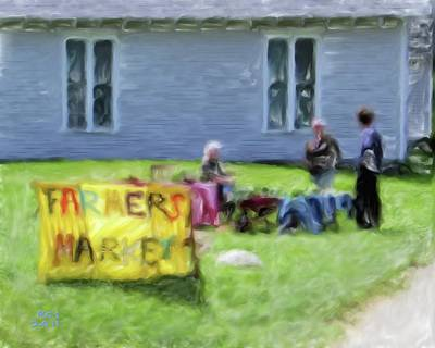 Monhegan Market Art Print by Richard Stevens