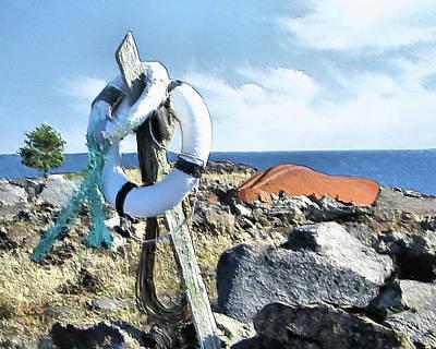 Digital Art - Monhegan Wreck by Richard Stevens