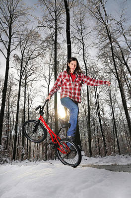 Photograph - Monika Hinz Bmx Flatland In The Snow by Matthias Hauser