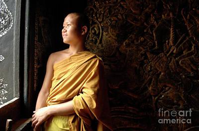 Monk Alex Laos Art Print by Bob Christopher