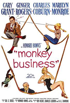 Fid Photograph - Monkey Business, Cary Grant, Ginger by Everett