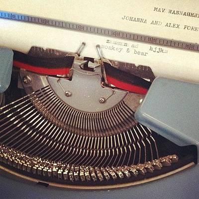 Typewriter Photograph - #monkey&bear #typewriter by Jennifer Silva