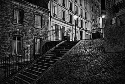 Photograph - Montmartre After Dark by Wes and Dotty Weber
