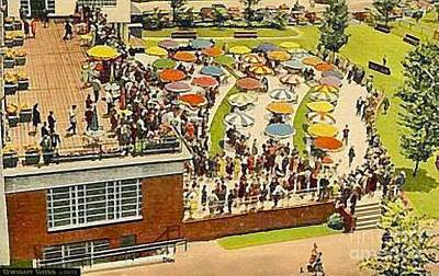 Painting - Monmouth Park N J Racetrack Terrace In 1939 by Dwight Goss