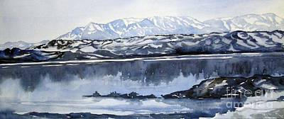 Painting - Mono Lake Blue by Pat Crowther