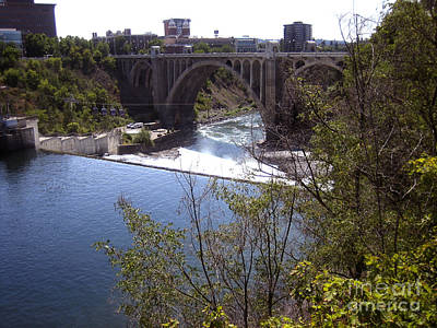 Photograph - Monroe Street Bridge Spokane River by Ann Powell