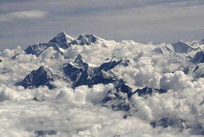 Natural Forces Photograph - Monsoon Clouds Shroud Mount Everest by Gordon Wiltsie