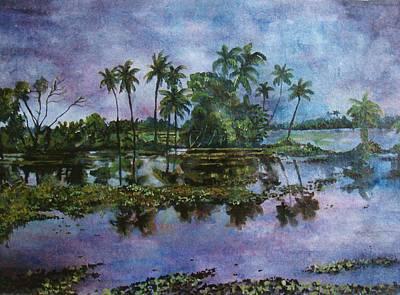 Monsoon Glory-ii Art Print by Manjula Prabhakaran Dubey