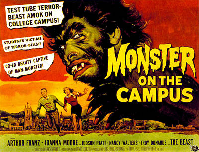 Monster On The Campus, Arthur Franz Art Print