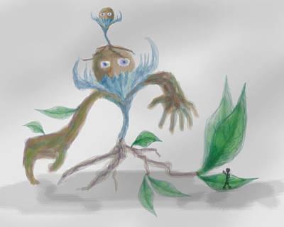 Monster Tree Art Print by Sebopo Art