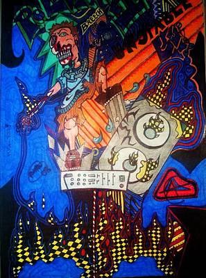 Monster Vocals Art Print by Ragdoll Washburn