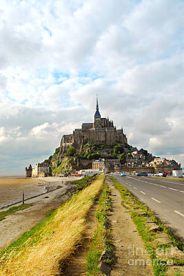 Fortification Photograph - Mont Saint Michel by Elena Elisseeva
