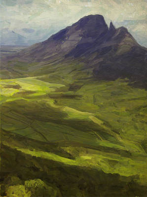 Briex Painting - Montagne Du Rempart Mauritius by Nop Briex