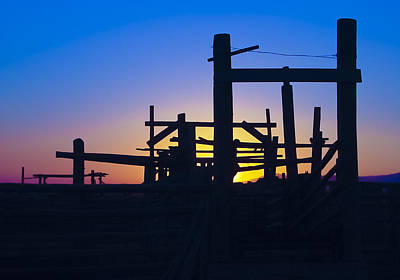 Sunsets Photograph - Montana Corral by Williams-Cairns Photography LLC