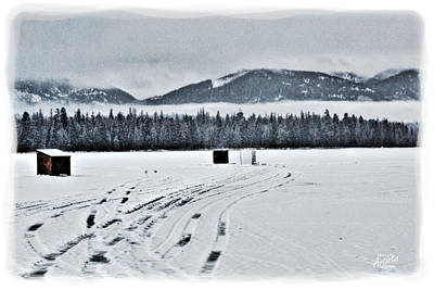 Art Print featuring the photograph Montana Ice Fishing by Janie Johnson