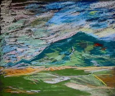 Montana Range Art Print