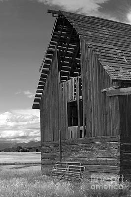 Photograph - Montana Weathered Barn by Sandra Bronstein