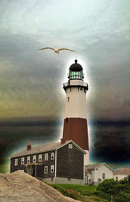 Montauk Lighthouse 3 Art Print by Dennis Clark