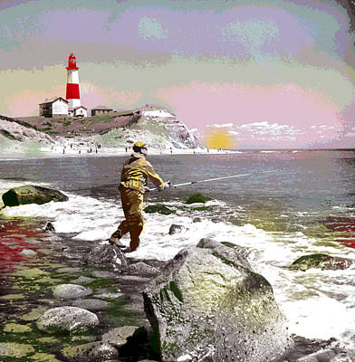 1-charles-shoup.fineartamerica.com Mixed Media - Montauk Point Lighthouse by Charles Shoup