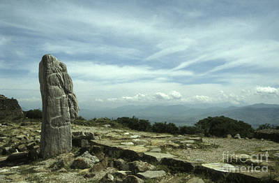 Photograph - Monte Alban Monolith by John  Mitchell
