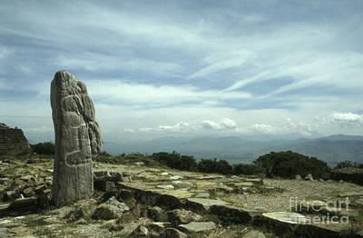 Photograph - Monte Alban Monolith by John  Mitchell