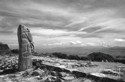 Photograph - Monte Alban Monolith Oaxaca Mexico by John  Mitchell