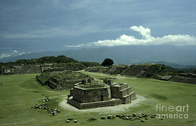 Monte Alban Plaza Art Print by John  Mitchell