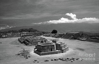 Photograph - Monte Alban Plaza Oaxaca Mexico by John  Mitchell