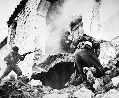 Photograph - Monte Cassino, 1944 by Granger