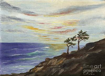 Painting - Monterey Cypress Sunset by Jessi and James Gault