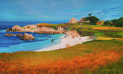 Pacific Grove Painting - Monterey Peninsula by Judith Barath