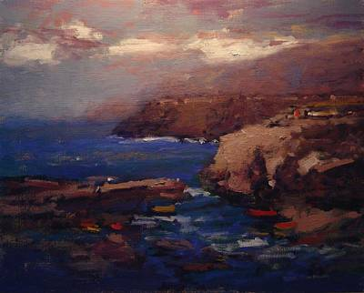 Terra Painting - Monterrosa Italy by R W Goetting