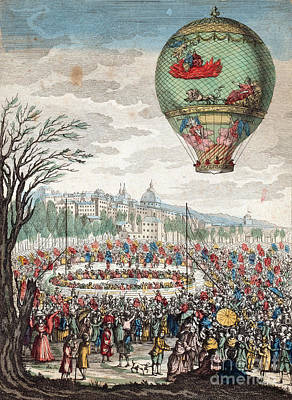 Lyon France Photograph - Montgolfier Balloon Le Flesselles by Photo Researchers