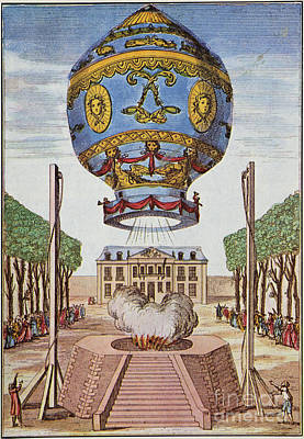Montgolfier Hot Air Balloon Art Print by Science Source
