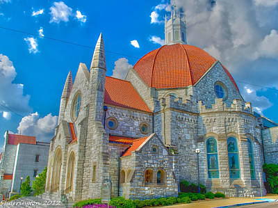 Montgomery Baptist Church Hdr Art Print