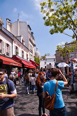 Sacre Coeur Photograph - Montmartre Artist Colony by Jon Berghoff