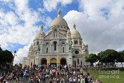 Photograph - Montmartre Basilique Sacre Coeur by Ines Bolasini