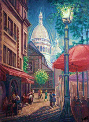 Sacre Coeur Painting - Montmartre by Raffi Jacobian