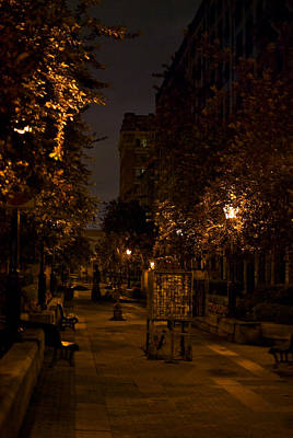 Montreal Streets Photograph - Montreal At Night by Mike Horvath