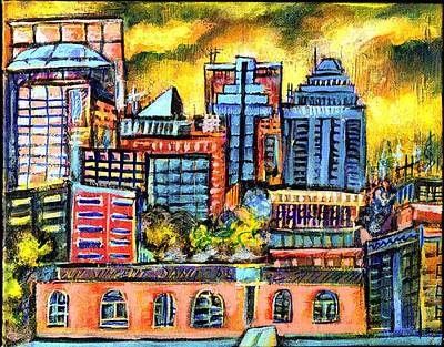 Montreal Cityscapes Painting - Montreal Sky by Ion vincent DAnu